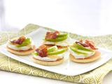 Goat Cheese, Apple and Bacon Canapes