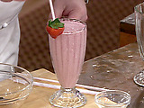 Fresh Strawberry Milkshakes