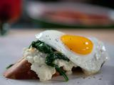 Open-Faced Eggs Florentine