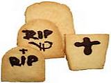 Spooky Shortbread Tombstones