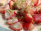 Strawberries with Ricotta Cream and Pistachios