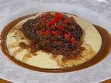 Rioja Braised Beef Cheeks with Creamy Polenta