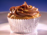 Caramelized Plantain Cupcakes with a Chocolate Hazelnut Cream Cheese Frosting