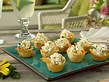 Mini Phyllo Cups Filled with Shrimp Salad
