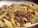 Rigatoni with Sauteed Cremini Mushrooms and Turkey Confit