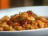 Stewed Butter Beans with Smoked Turkey