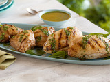 Grilled Chicken with Basil Dressing