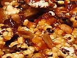 Caramel Corn with Peanuts and Dried Cherries