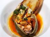 Braised Swordfish Collar With Chorizo and Clams