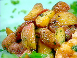 Crispy Potatoes with Bacon, Garlic, and Parsley