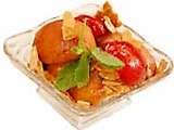 Roasted Fruits with Cinnamon-Red Wine Glaze and Toasted Almonds
