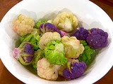 Steamed Baby Cauliflower
