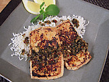 Crispy Pressed Tofu with Garlic and Mint