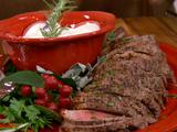 Slow Cooked Roast with Creamy Herb Sauce