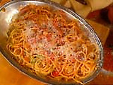 Spaghetti with a Hole with Bacon and Tomato Bucatini All'Amatriciana