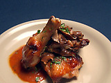 Chicken with Mushroom Demi-Glace and Figs