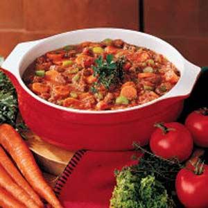 Savory Tomato Beef Soup Recipe