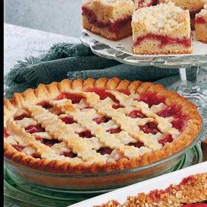 Rhubarb Cherry Pie Recipe