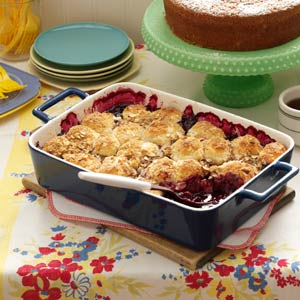 Blueberry-Apple Cobbler with Almond Topping Recipe