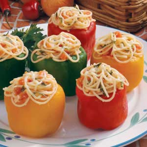Pasta-Filled Peppers Recipe