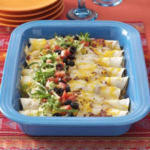 Three Cheese Enchiladas Recipe