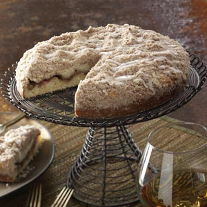 Rhubarb-Lemon Coffee Cake Recipe