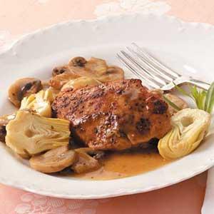 Sherried Artichoke Chicken Recipe