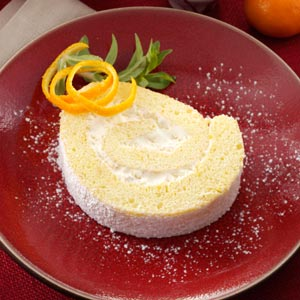 Tangerine Cream Roulade Recipe
