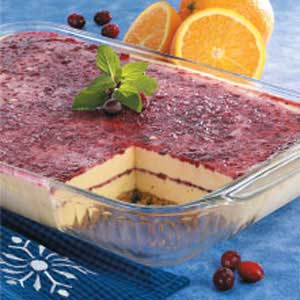 Cran-Orange Ribbon Dessert Recipe