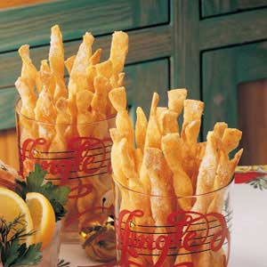 Crisp Cheese Twists Recipe