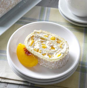 Peaches & Cream Jelly Roll Recipe