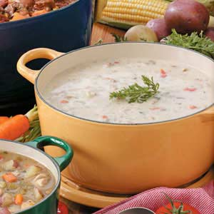 Hearty Garlic Potato Soup Recipe