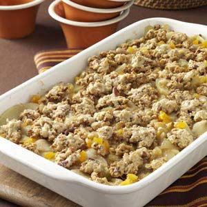Gingered Apricot-Apple Crumble Recipe
