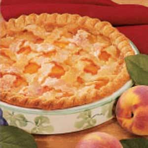 Peaches 'N' Cream Pie Recipe