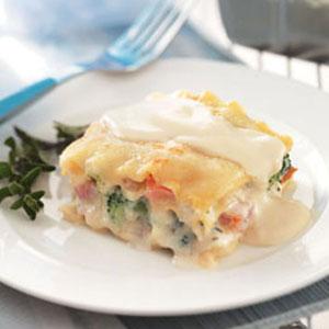 Vegetarian Lasagna Alfredo Recipe