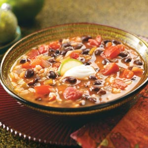 Southwest Black Bean Soup Recipe