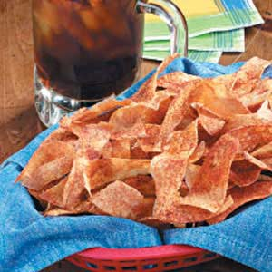 Spicy Ribbon Potato Chips Recipe