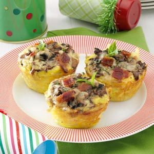 Hash Brown Nests with Portobellos and Eggs Recipe
