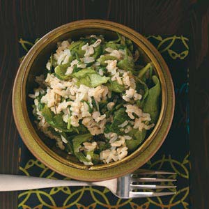 Spinach and Rice Recipe