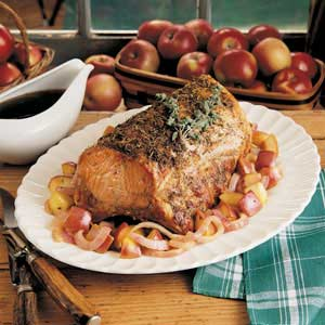 Herbed Pork and Apples Recipe
