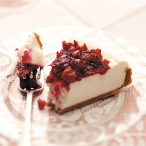 Creamy Cranberry Cheesecake Recipe