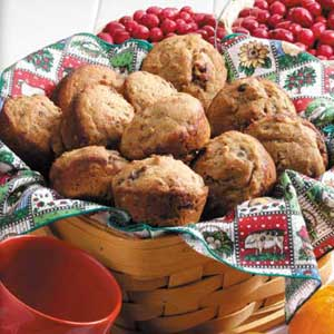 Cran-Orange Bran Muffins Recipe