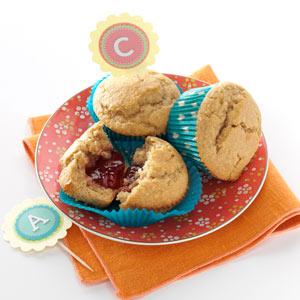 Peanut Butter & Jam Muffins Recipe