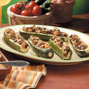 Spinach Stuffed Zucchini Recipe