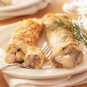 Creamy Scallop Crepes Recipe