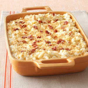Five-Cheese Macaroni with Prosciutto Bits Recipe