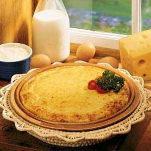 Crustless Swiss Quiche Recipe