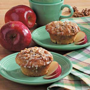 Glazed Apple Streusel Muffins Recipe
