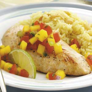 Chicken with Mango Salsa Recipe