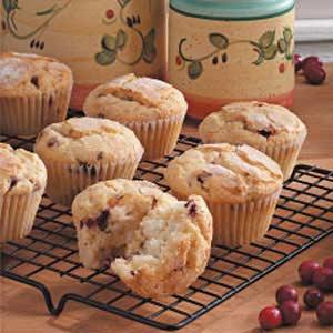 Cranberry Cream Cheese Muffins Recipe